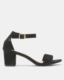 Legit Microfiber Block Heels Black