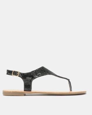 e208d63e68a Legit Full Embellished Thong Sandals Black