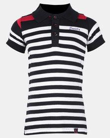 Soviet B Carousel Short Sleeve Stripe Golfer Berry