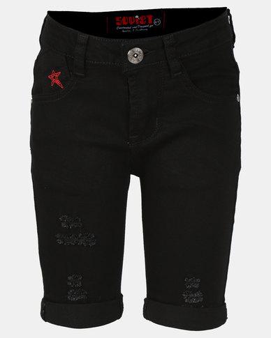 Soviet B Levy Denim Shorts Black