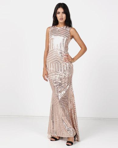 a2e29541d4e24 Romantic Dreams Rose Gold Sequin Gown