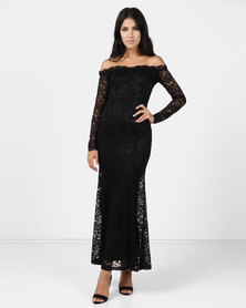 Princess Lola Boutique One Night In Paris Crochet Gown Black