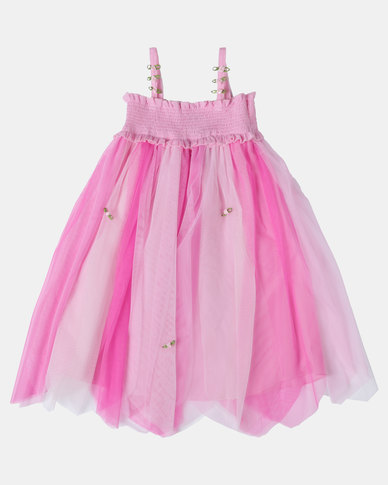 Fairy Shop Rainbow Rose Dress Soft Pink