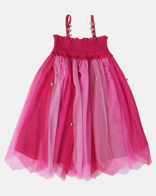 Fairy Shop Rainbow Rose Dress Pink