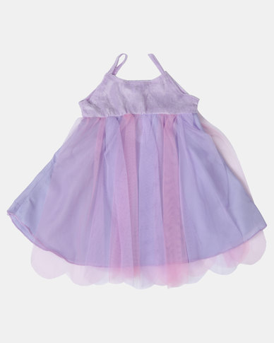 Fairy Shop Baby Soft Tulle Wings Dress Purple/Pink