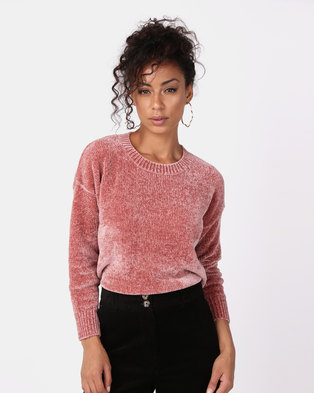 55310a126663a0 New Look Chenille Slouchy Jumper Pink