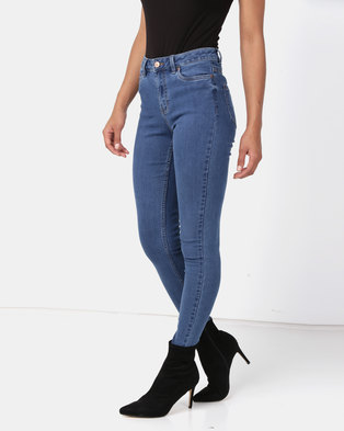New Look Super Soft Super Skinny India Jeans Mid Blue