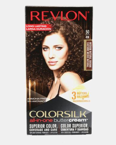 Revlon Luxurious Colorsilk Buttercream Permanent Hair Color Medium Brown