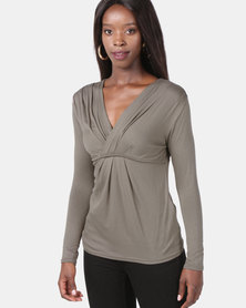Assuili Heart Cache Top Taupe