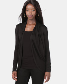 Assuili Cardigan with Pockets Black