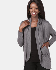 Assuili Cardigan with Pockets Grey