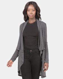 Assuili Mock Wrap Jersey Grey
