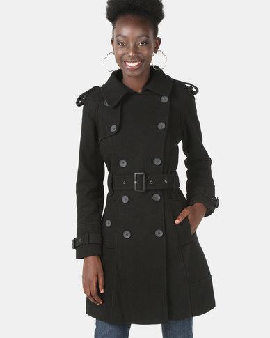 Assuili Long Coat Black