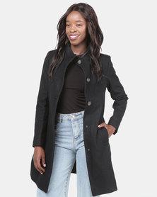 Assuili Long Coat With Buttons Black