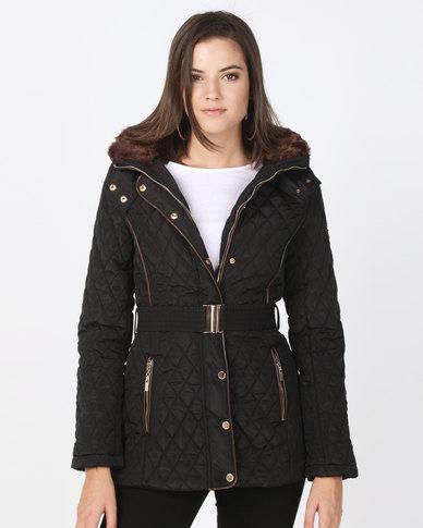 Assuili Jacket With Double Collar Black