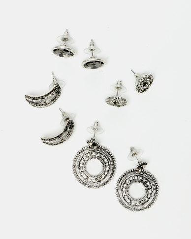 Queenspark Best Selling Earrings Pack Pewter