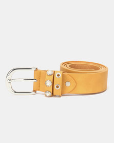 Queenspark Basic Pearl Keeper Belt Mustard
