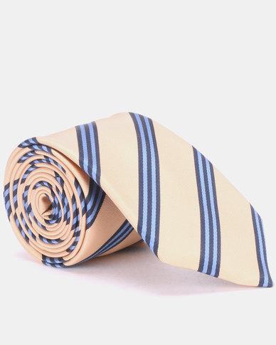 JCrew Stripe Tie Gold & Blue