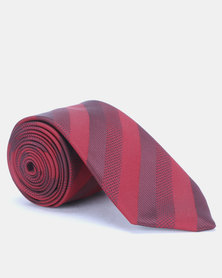 JCrew Stripe Tie Red