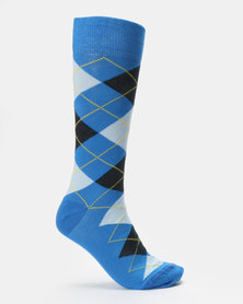 JCrew Argyle Design 2 Pack Sock Blue