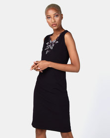 Queenspark Glam Knit Dress Grape