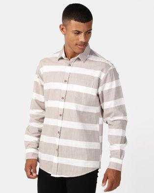 fb5c56c4943 JCrew Slub Stripe Shirt Natural
