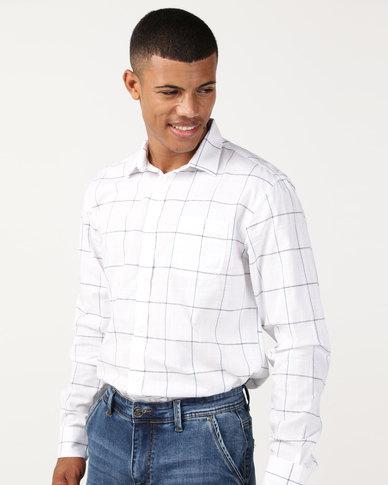 JCrew Over Check Shirt White/Blue