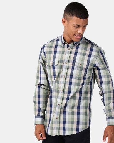 JCrew Check Long Sleeve Shirt Green