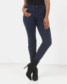 Utopia Stretch Push Up Jeans Navy