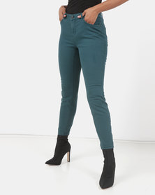Utopia Stretch Push Up Jeans Olive