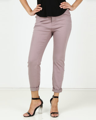 Utopia Stretch Push Up Jeans Dusty Pink