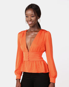 Ivyrevel Adena Blouse Hot Orange