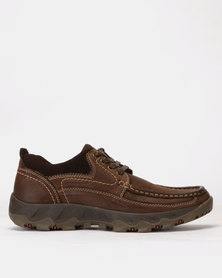 Grasshoppers Chubby Lace Ups Coffee