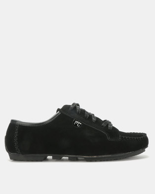 PC Lace Up Shoes Black Bear