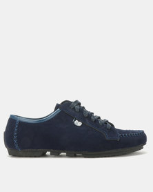 PC Lace Up Shoes Navy Bear