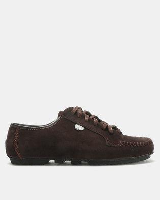 PC Lace Up Shoes Choc Bear