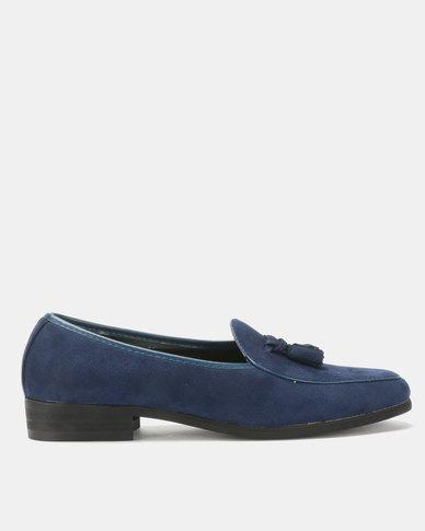 PC Tassel Moccasin Shoes Navy Bear