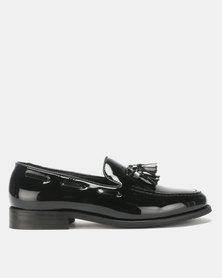 PC Brush Hi Shine Moccasin Shoes Black Brush