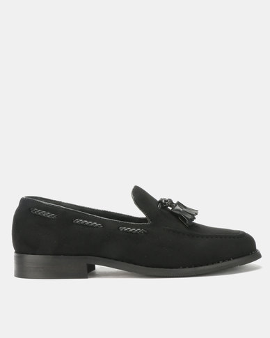 PC Tassel Moccasin Shoes Black Bear