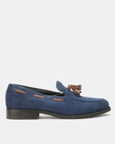 PC Tassel Moccasin Shoes Navy Bear