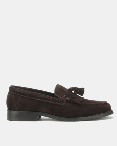 PC Suede Moccasin Shoes Choc Suede