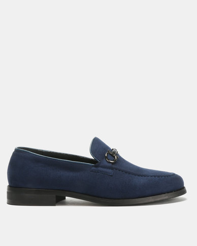 PC Classic Moccasin Shoes Navy Bear