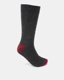 K7 STAR Turin Print Socks Charcoal