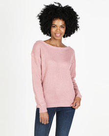 AX Paris Cosy Jumper Pink