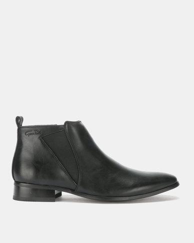 Gino Paoli Gusset Boots Black