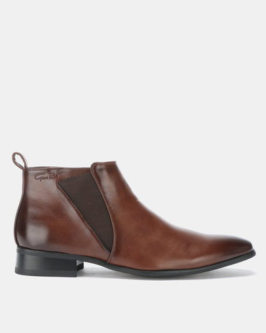 Gino Paoli Gusset Boots Brown