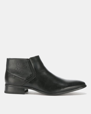 Gino Paoli Brogue Boots Black