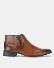 Gino Paoli Brogue Boots Tan