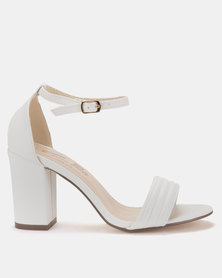 Gino Paoli Block Heel Sandals White