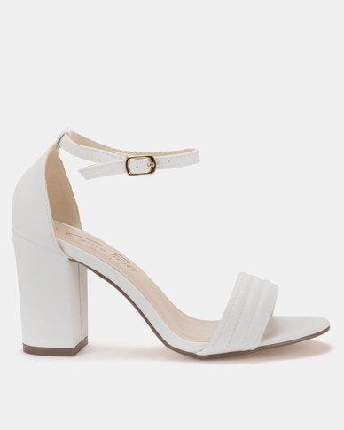 Gino Paoli Block Heel Sandals White